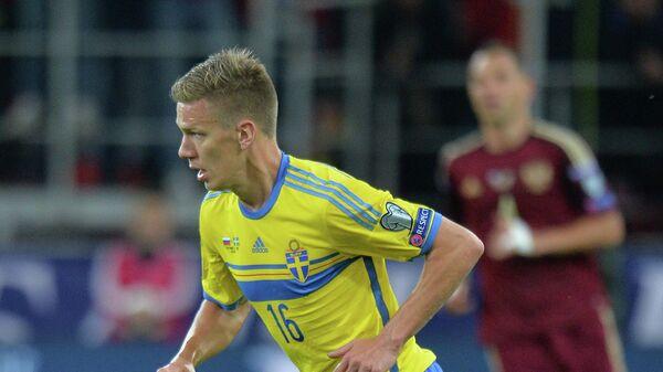 Полузащитник сборной Швеции Понтус Вернблум