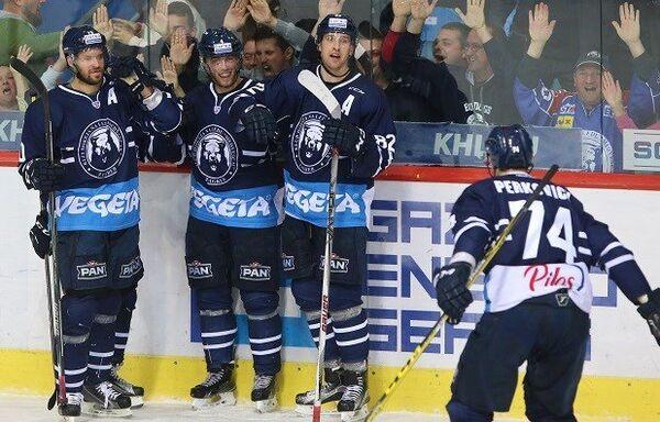 Хоккеисты загребского Медвешчака