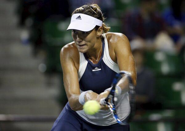 Испанская теннисисстка Гарбинье Мугуруса