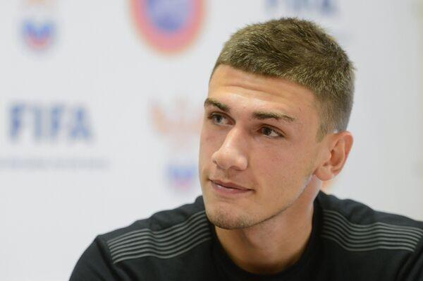 Игрок юношеской сборной России по футболу Георгий Махатадзе