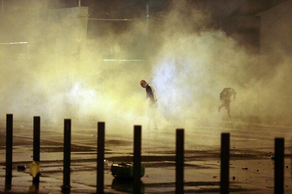 Беспорядки перед матчем отбора к Евро-2016 Румыния - Венгрия