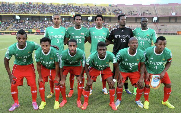 Футболисты сборной Эфиопии