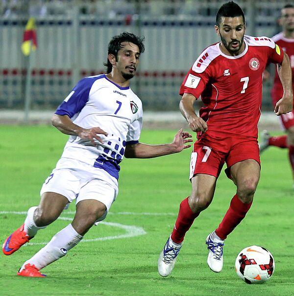 Игровой момент матча Кувейт - Ливан