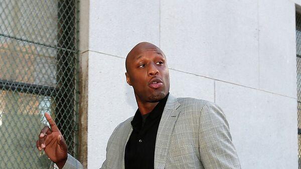 Американский баскетболист Ламар Одом