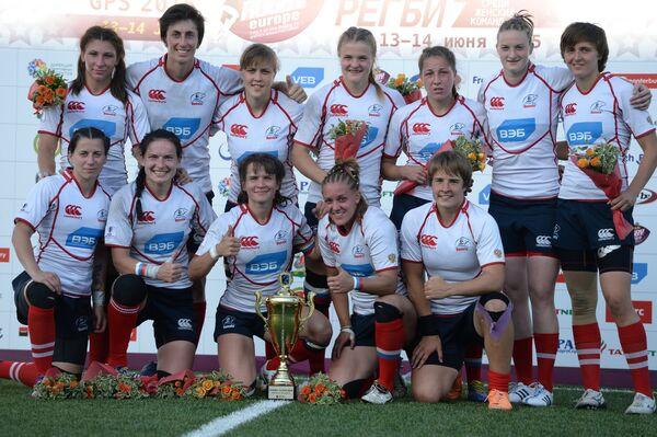Игроки женской сборной России по регби-7