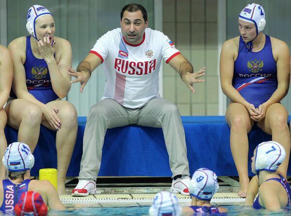 Главный тренер женской сборной России по водному поло Александр Гайдуков