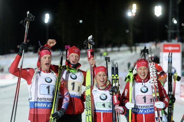 Слева направо: Тарьей Бё, Йоханнес Бё, Тириль Экхофф, Фанни Хорн Биркеланд (Норвегия)