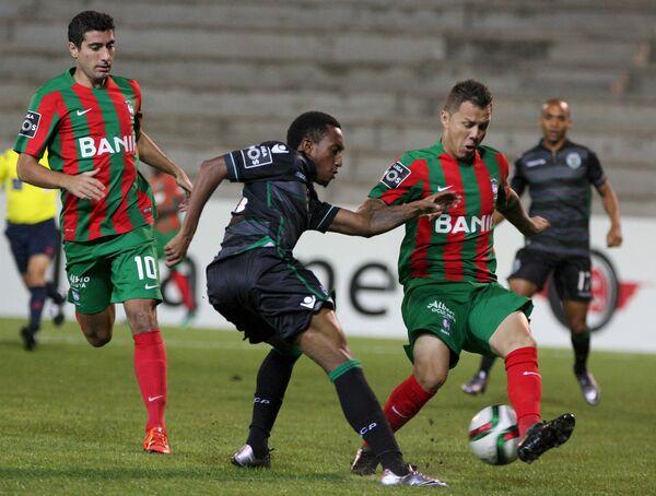 Игровой момент матча чемпионата Португалии между Маритиму и Спортингом