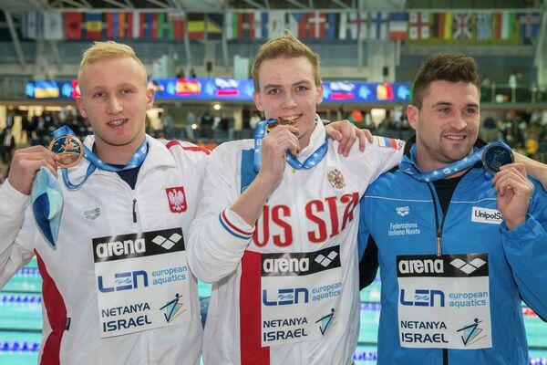 Себастьян Щепанский, Евгений Седов и Марко Орси (слева направо)