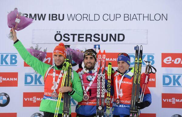 Арнд Пайффер (Германия), Мартен Фуркад (Франция), Кентен Фийон-Майе (Франция) (слева направо)