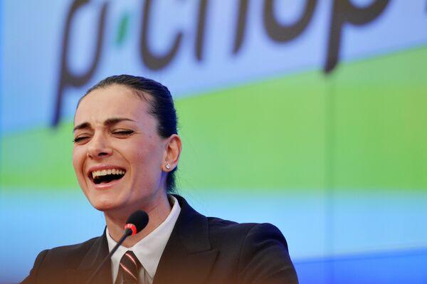 Двукратная олимпийская чемпионка, заслуженный мастер спорта России по легкой атлетике Елена Исинбаева
