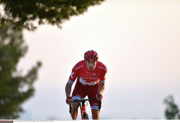 Велогонщик команды Катюша Александр Кристофф