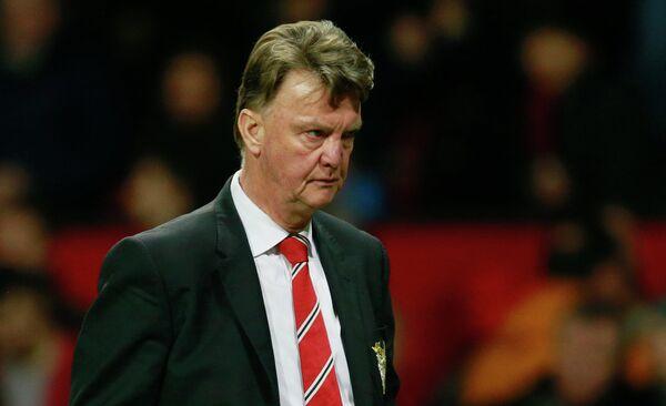 Главный тренер английского футбольного клуба Манчестер Юнайтед Луи ван Гал