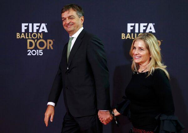 Жером Шампань вместе со своей женой