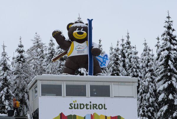 Талисман шестого этапа Кубка мира по биатлону в Антерсельве