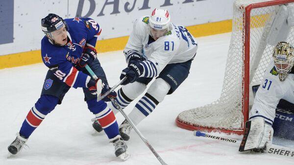 Игровой момент матча СКА - Адмирал