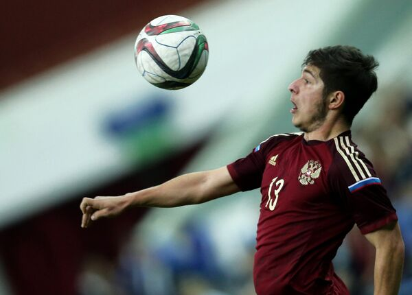 Нападающий сборной России Аршак Корян