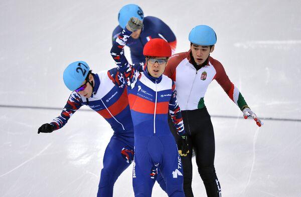Дмитрий Мигунов, Семен Елистратов и Шандор Лю Шаолинь (слева направо)