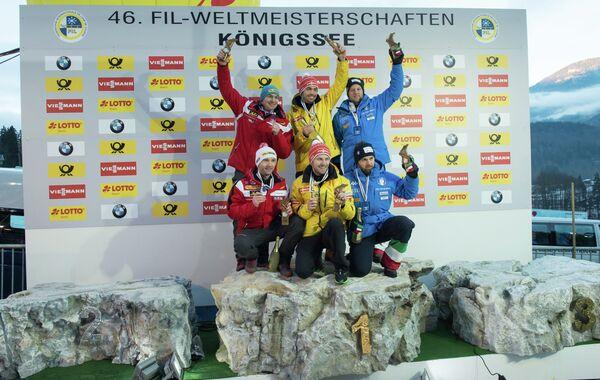 Петер Пенц и Георг Фишлер, Тобиас Вендль и Тобиас Арльт, Кристиан Оберштольц и Патрик Грубер (слева направо)