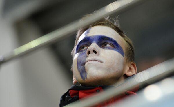 Болельщик сборной Финляндии
