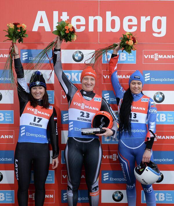 Элиза Цауче , Татьяна Хюфнер и Татьяна Иванова (слева направо)