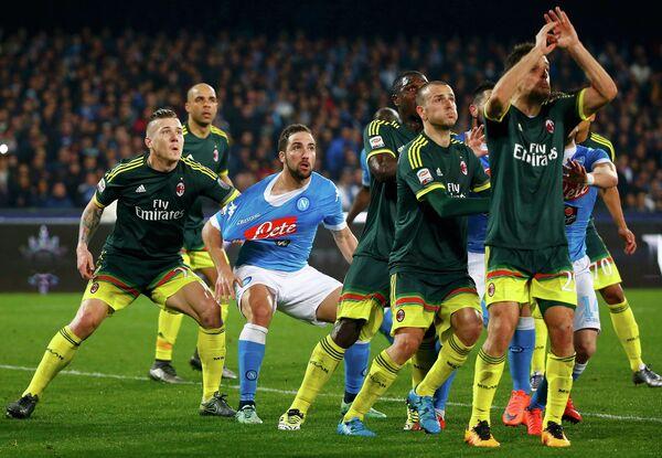 Игровой момент матча Наполи - Милан