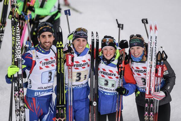 Мартен Фуркад, Кентен Фийон-Майе, Мари Дорин Абер, Анаи Бескон (слева направо)