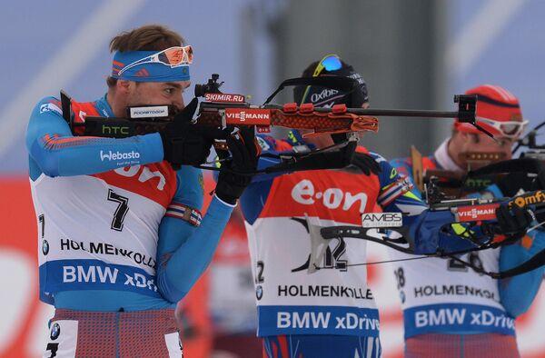 Антон Шипулин (Россия)(слева)