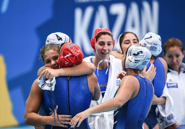 Ватерполистки сборной Греции, архивный кадр