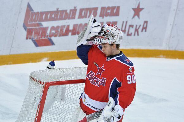 Вратарь ПХК ЦСКА Илья Сорокин