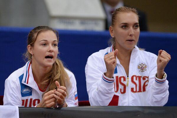 Елизавета Куличкова (слева) и Елена Веснина