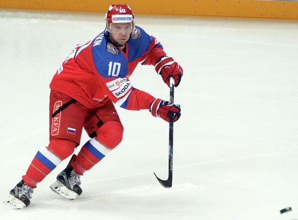 Нападающий сборной России Сергей Мозякин