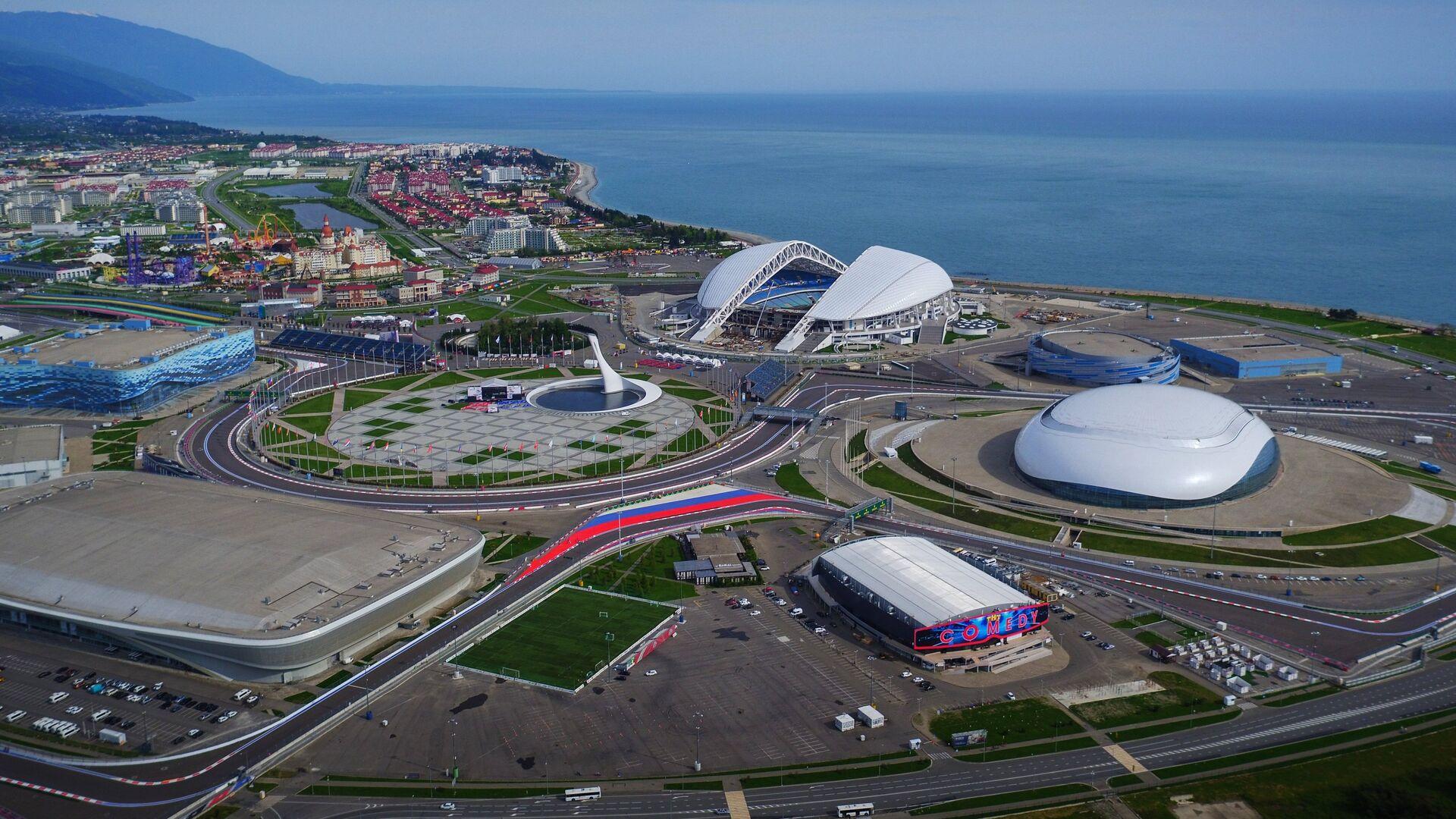 Вид на Олимпийский парк и Сочи Автодром - РИА Новости, 1920, 31.08.2020