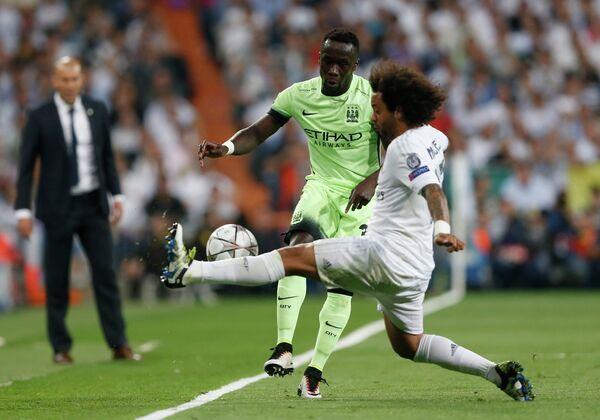 Игровой момент матча Реал - Манчестер Сити