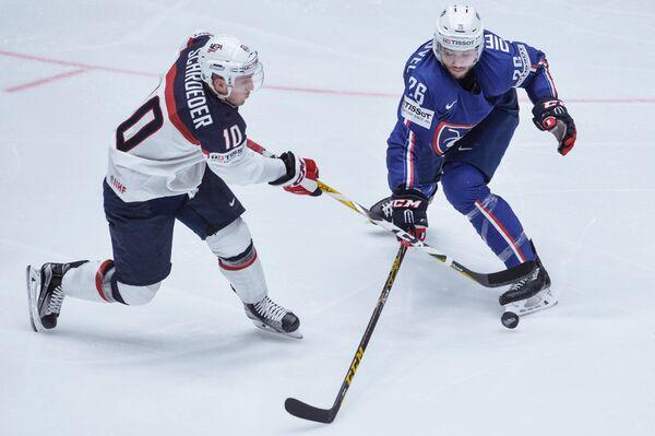 Игровой момент матча США - Франция