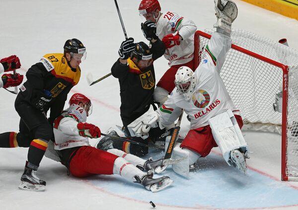 Игровой момент матча Германия- Белоруссия