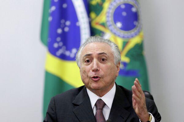 Исполняющий обязанности президента Бразилии Мишел Темер