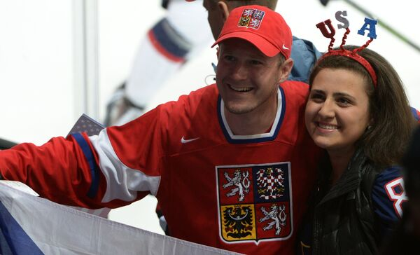 Болельщики сборной Чехии и сборной США
