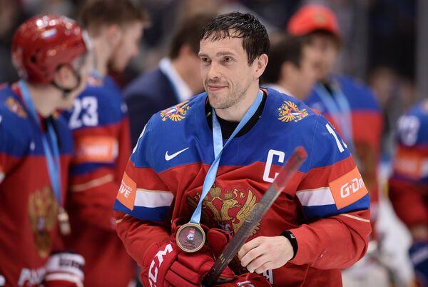 Капитан сборной России Павел Дацюк