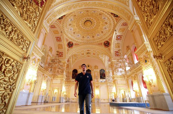Защитник ПБК ЦСКА Нандо Де Коло в Большом Кремлевском дворце