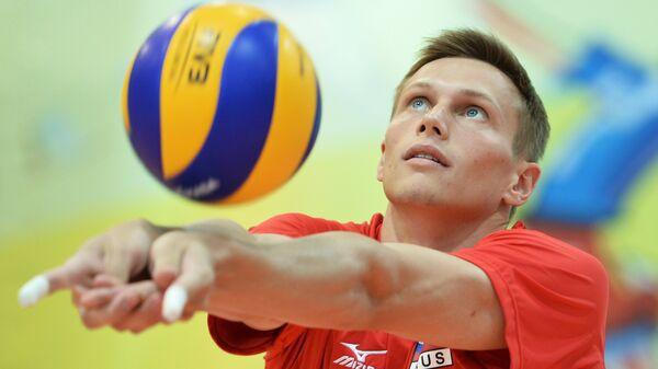 Связующий мужской сборной команды России по волейболу Дмитрий Ковалев