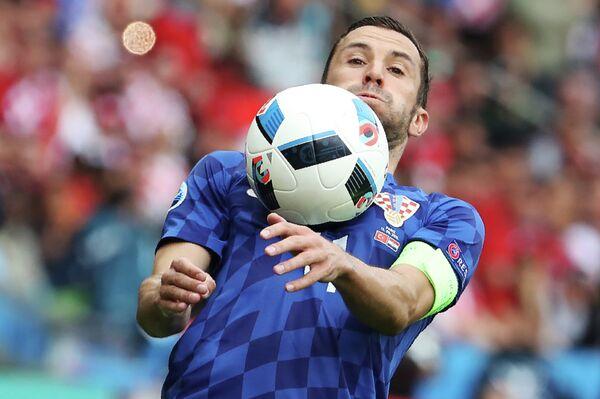 Защитник сборной Хорватии по футболу Дарио Срна