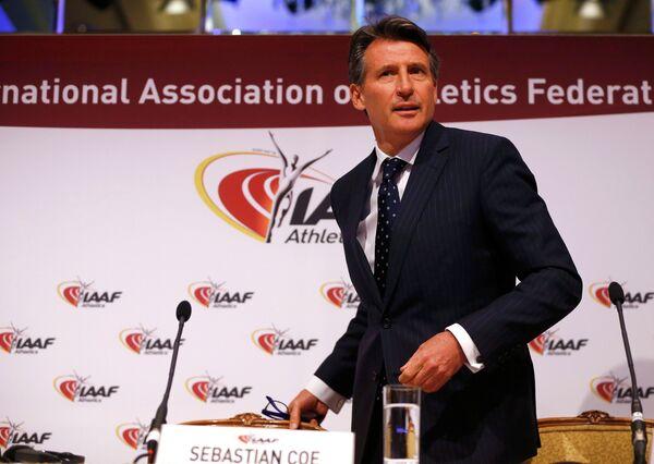 Себастьян Коу на заседании совета IAAF