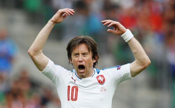 Полузащитник сборной Чехии по футболу Томаш Росицки
