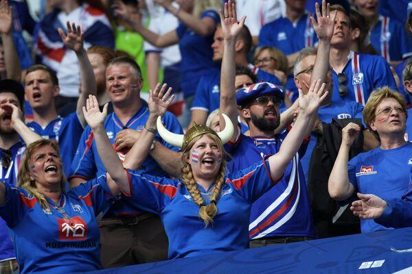 Болельщики сборной Исландии