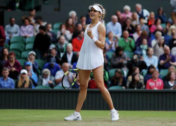 Эжени Бушар на Уимблдонском теннисном турнире