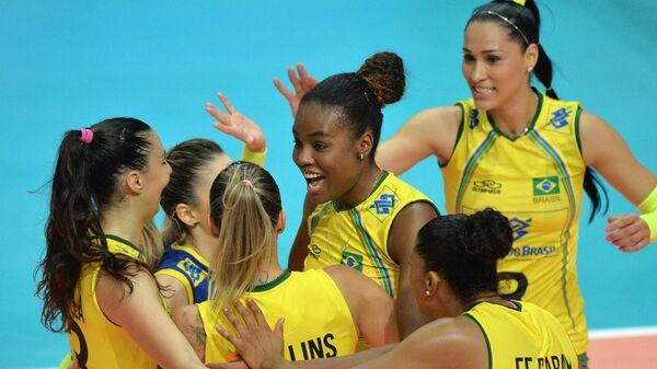 Волейболистки сборной Бразилии