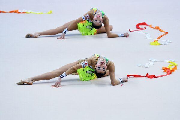 Спортсменки сборной Японии по художественной гимнастике